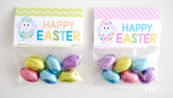 Easter bag toppers printable the organised housewife happy easter bag topper negle Gallery