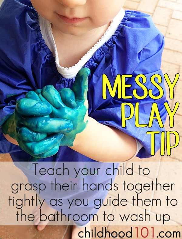 Messy play tip