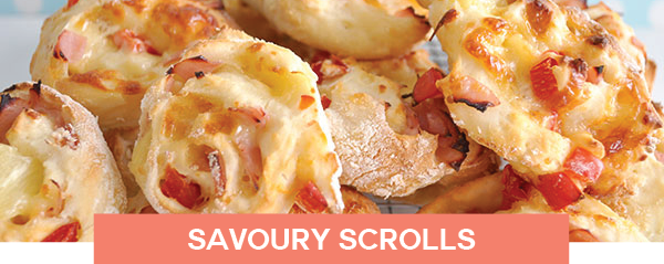 savoury scroll lunch meal ideas
