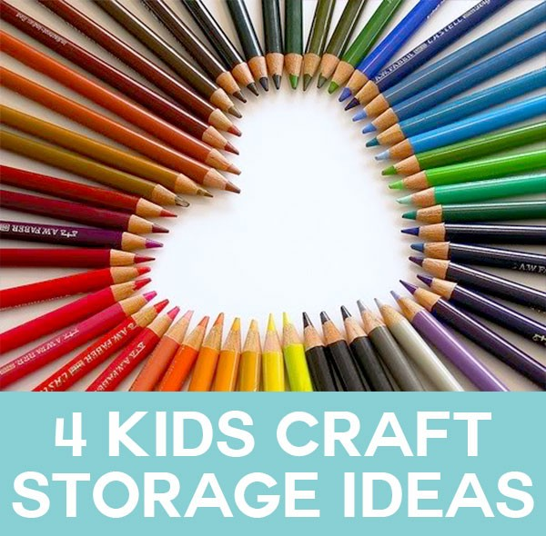 ... idea for kids art and craft supplies 1. Choosing a Storage Space  sc 1 st  The Organised Housewife & 4 Kids Craft Storage Ideas - The Organised Housewife