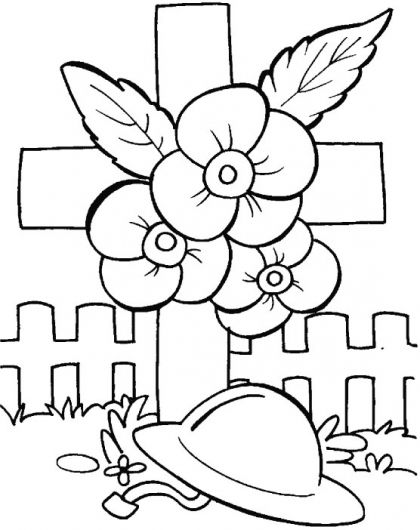 Anzac Day Colouring Page 2