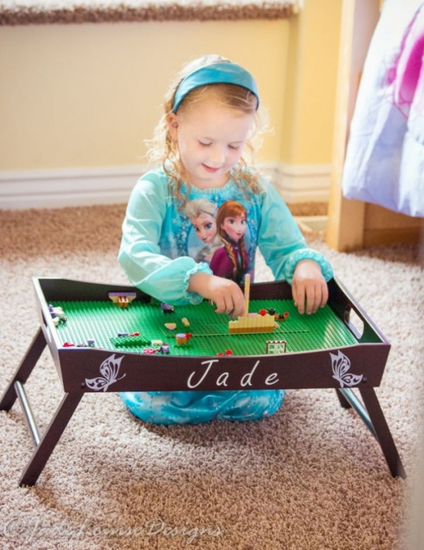 Lego play table idea - great for kids