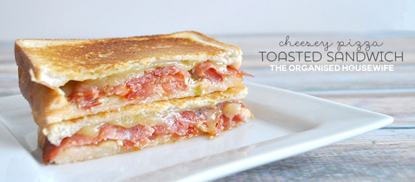 Easy Dinner Idea - pizza toasted sandwich