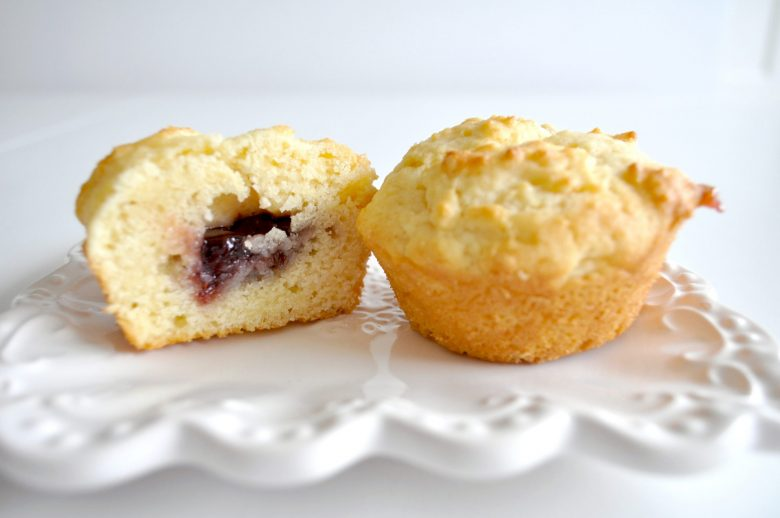 Jam and cream muffins