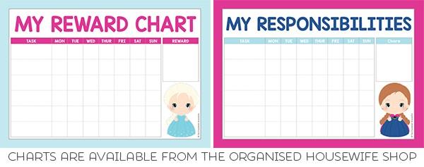 frozen reward charts chore charts
