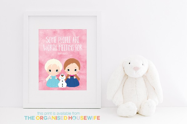 Some people are worth melting for print - white - pink