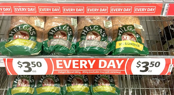 coles everyday low prices - helgas bread