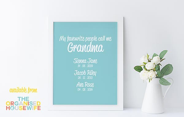 Grandmas Favourite People - Design set 1 - Colour 7