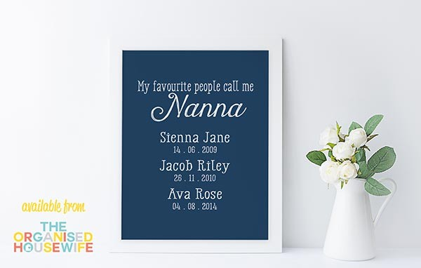 Grandmas Favourite People - Design set 3 - Colour 2