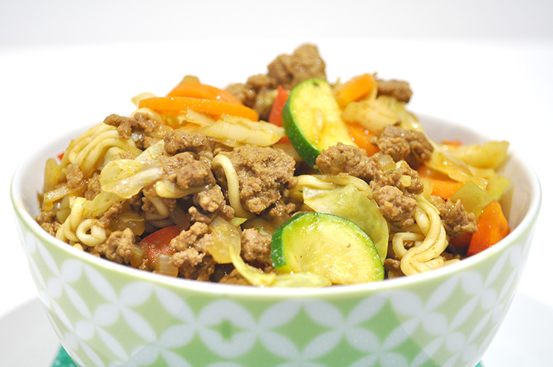 Beef Chow Mein with Noodles recipe by The Organised Housewife