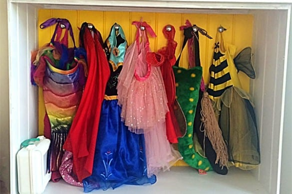DIY dress up wardrobe