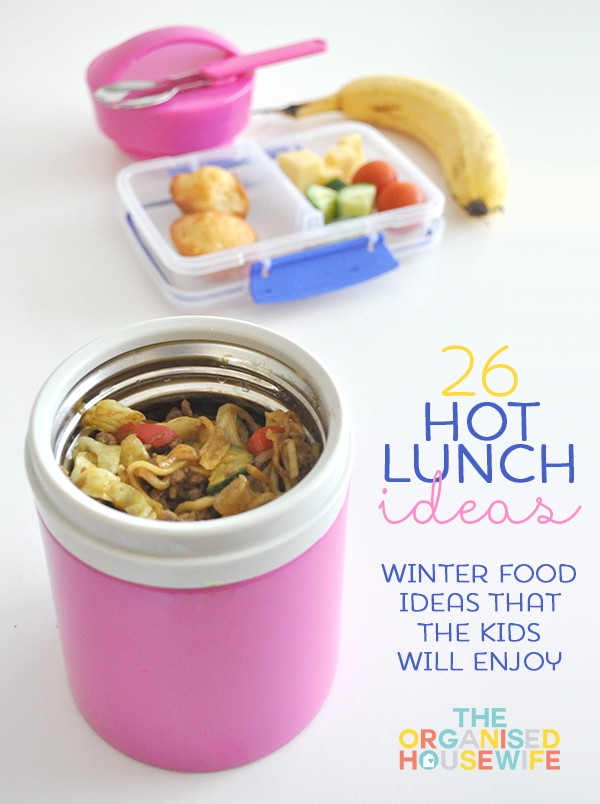 With fall and winter quickly approaching it's time to start thinking about lunch ideas to keep the kids warm. Packing a warm thermos lunch is also a great way to add some different lunch options to your menu. Kids, just like adults can get tired of eating the same thing over and over again.