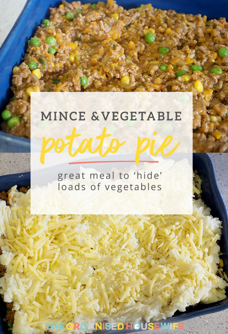 Mince and vegetable potato pie the organised housewife its a great way to smuggle or hide vegetables into the kids dinner i put my the onion carrots celery and zucchini into the food processor thermomix fandeluxe Images