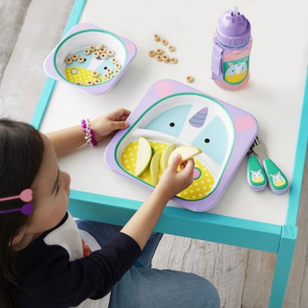 skip-hop-zoo-kids-dinnerware-melamine-set-unicorn- & Baby \u0026 Toddler Feeding Products | The Organised Housewife