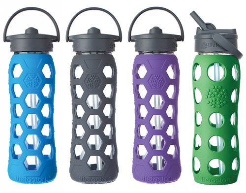 Lifefactory-Glass Water Bottles-Straw Cap