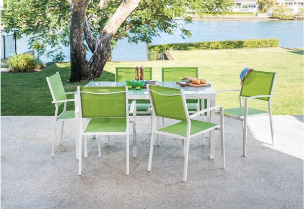 The Matino 7 Piece Outdoor Settingu0027s (pictured Above) Rust Proof Powder  Coated Aluminium Frame Makes It Perfect For Surviving In The Aussie Outdoors,  ... Part 94