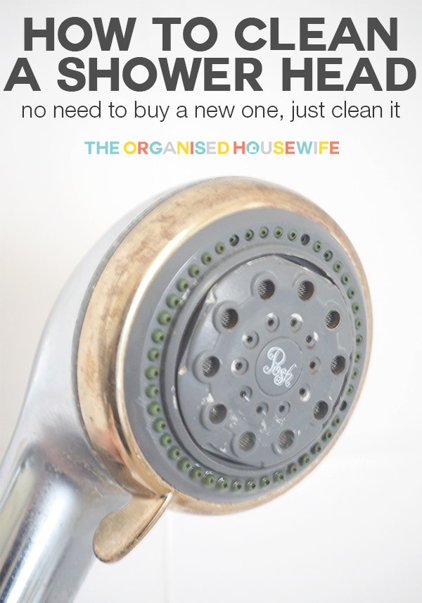 how to clear a shower head