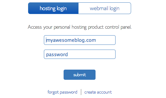 9-Bluehost login
