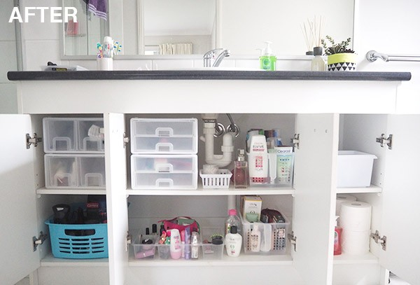 Tips to organise a bathroom cupboard the organised housewife