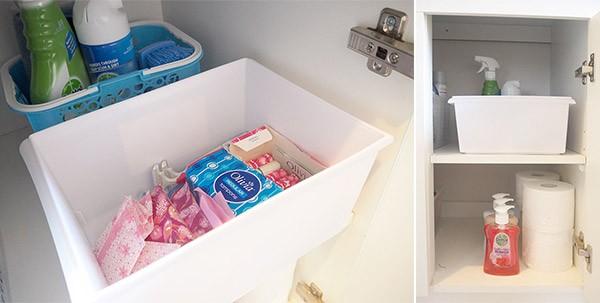 organising-ladies-products-in-bathroom