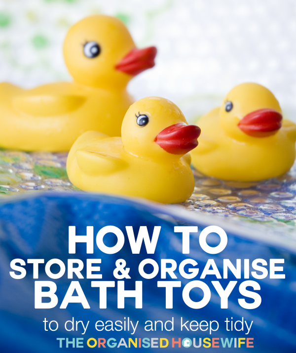 how to store and organise kids bath toys