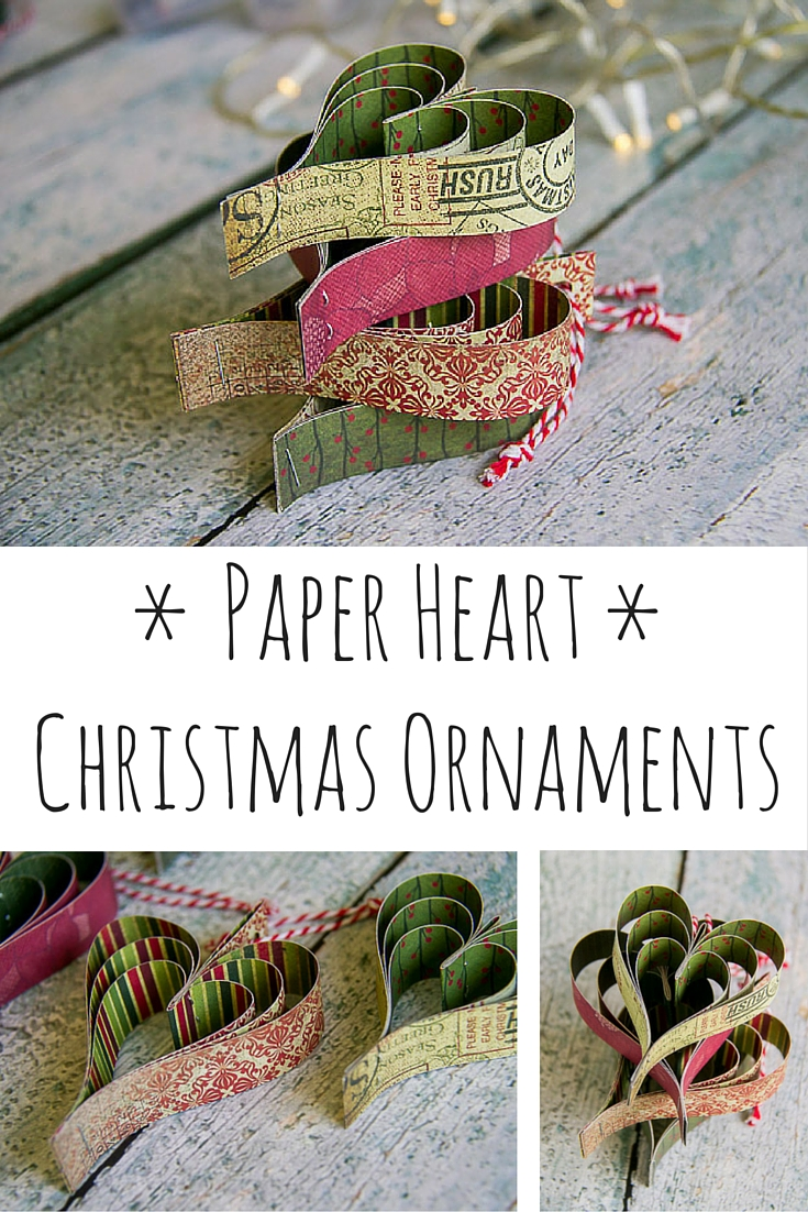 Paper Heart Christmas Decorations