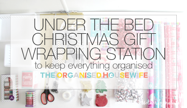 under the bed christmas gift wrapping station