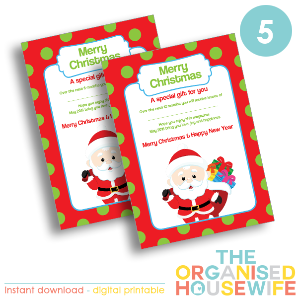 Magazine Subscription + Gift Certificate - The Organised ...