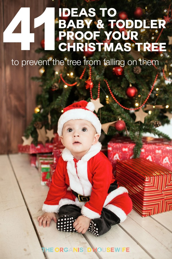 How to Toddler proof your Christmas Tree - The Organised Housewife