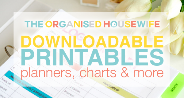 the organised housewife printables 2