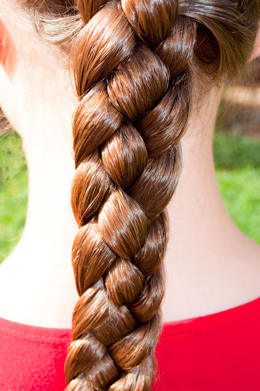 Girls School Hairstyle 4 Strand Plait The Organised Housewife