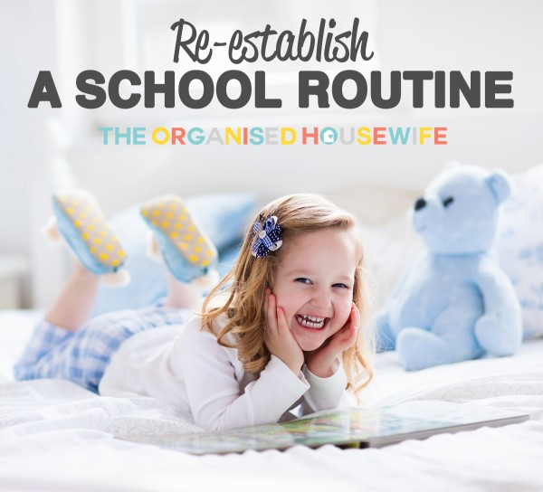 RE-ESTABLISH A SCHOOL ROUTINE - How I re-establish our school routine before the kids go back to school, most importantly is getting their school sleep routine back into place.