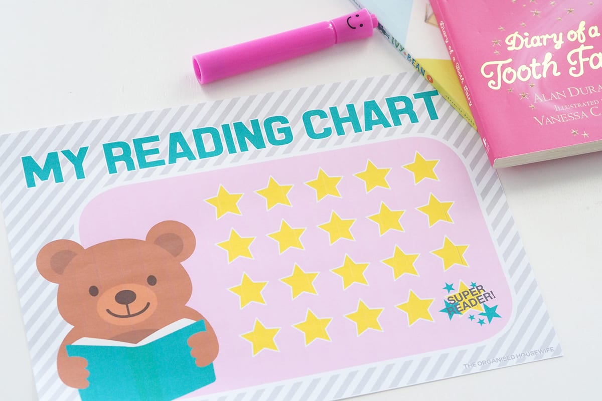Encourage child to read with my reading chart