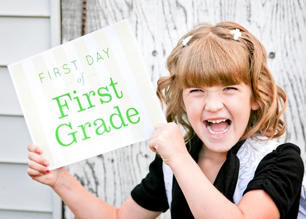 FREE First Day of School Printables 1