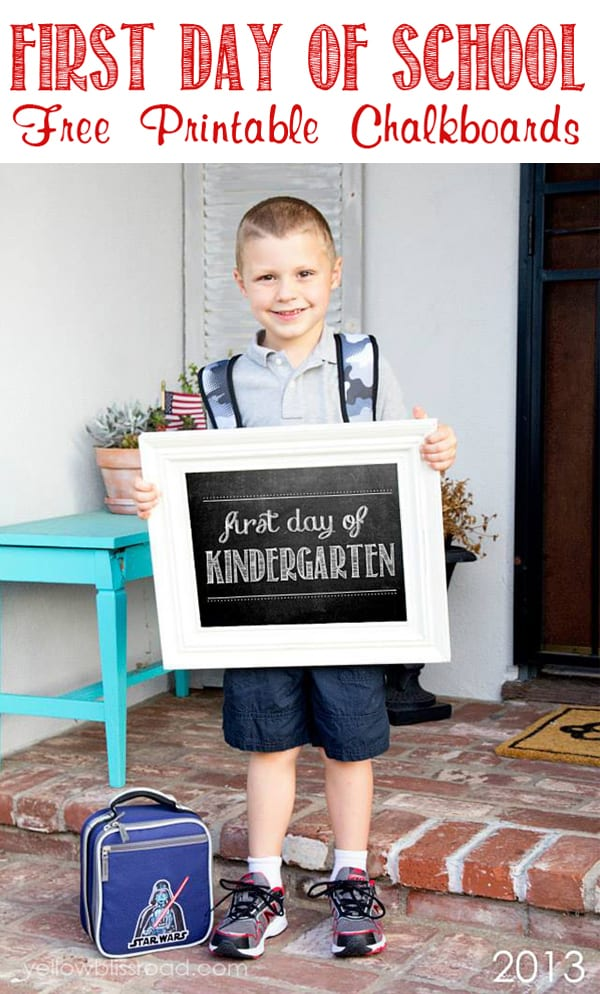FREE First Day of School Printables 10
