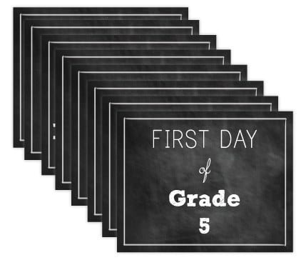 FREE First Day of School Printables 11