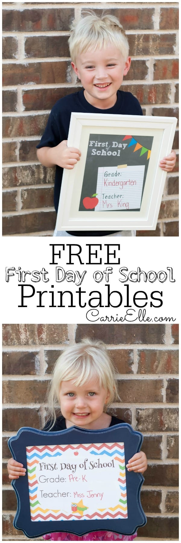 FREE First Day of School Printables 9