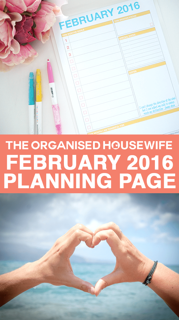FREE PLANNING PAGE - February 2016 Monthly Planning Page. Use this page to prepare for your month, setting your goals and priorities. With a little quote for inspiration.