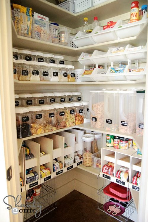 pretty pantry organization ideas layered pantry
