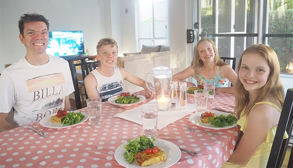 We have always been a 'sit at the dining table together to eat dinner' type family, as I love the interaction and opportunity for conversation, It provides each of us with a sense of togetherness, love and security, which I hope will positively impact my children as they grow.?