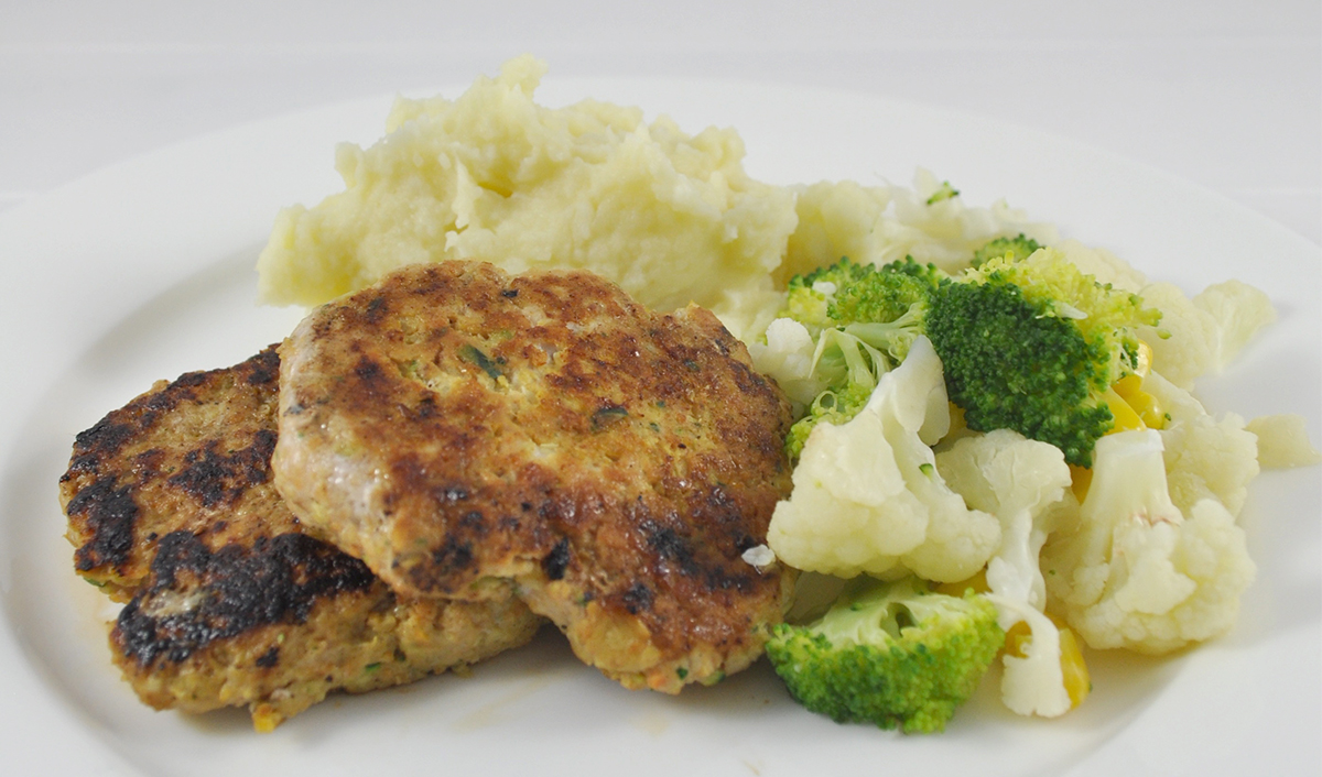 Chicken and Vegetable Rissoles recipe