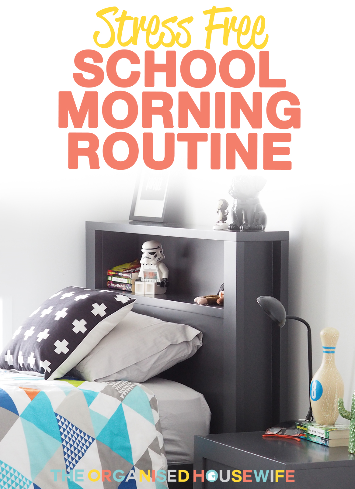 School mornings in our house have changed recently, for the better. I have worked out a strategy with the kids to make the morning not so rushed and hectic, a stress free school morning routine. It's all in the planning and preparation over the weekend and the night before.