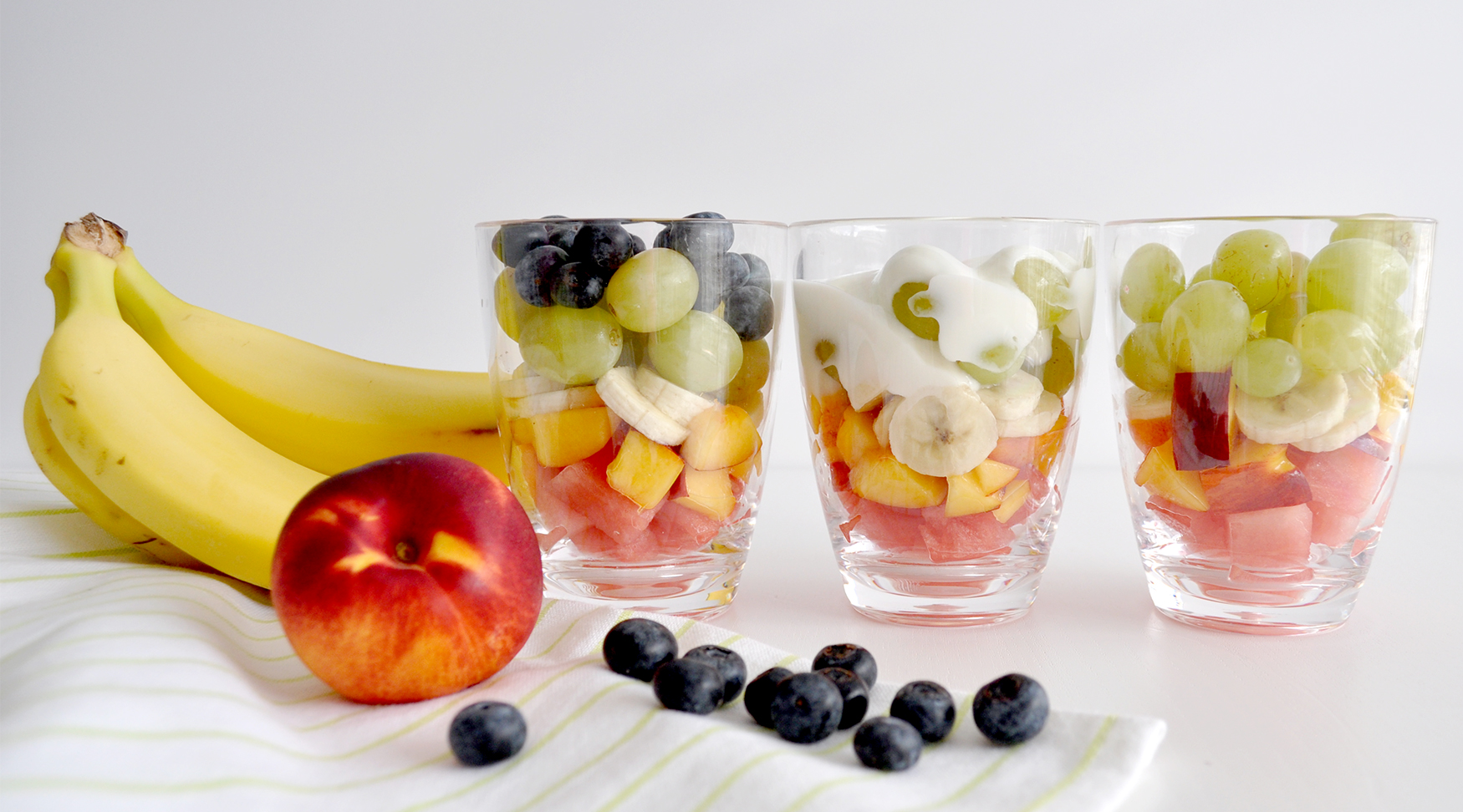 Get the kids in the kitchen making healthy snacks, fruit salad is easy to prepare and a great way to help them learn about preparing food in the kitchen.