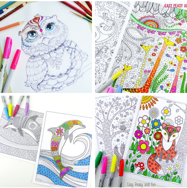 Get creative with these abstract adult colouring pages, which are also fun for the teenagers too. Loads and fun free printables pages for you to download!