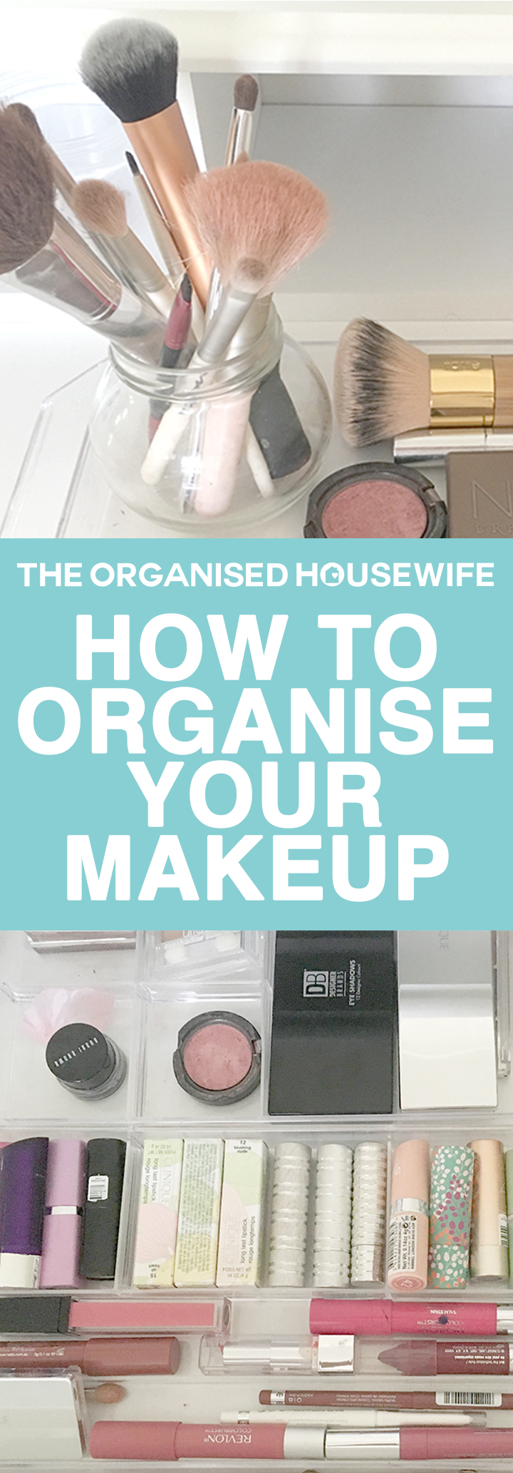 Makeup can easily become cluttered within the drawers, these tips are simple and effective to help organise your makeup.