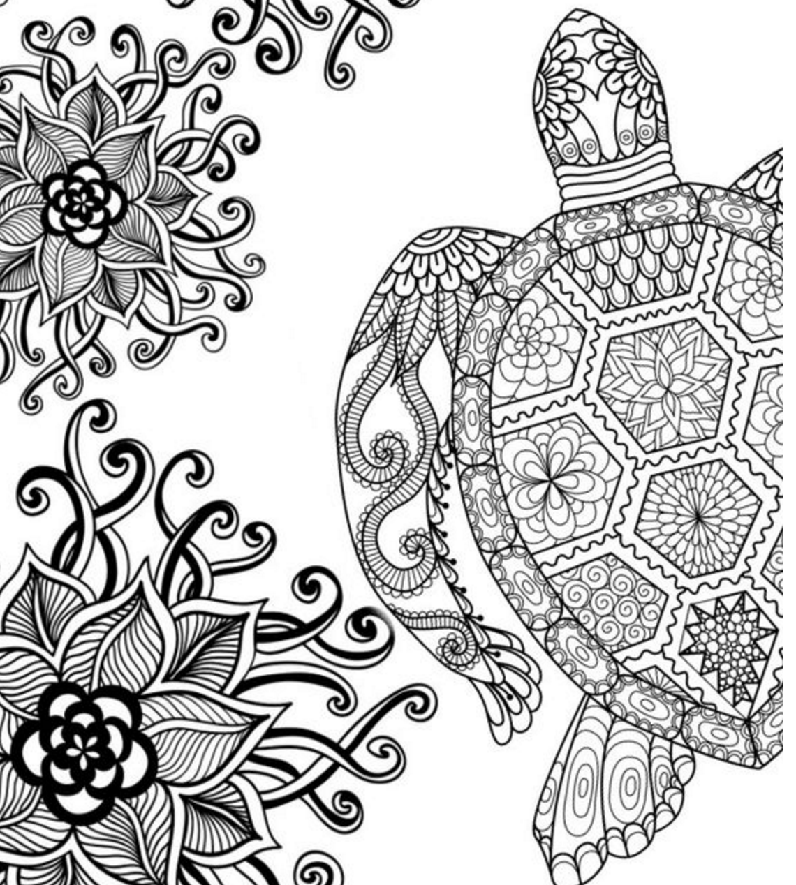 creative coloring pages for teens - photo#1