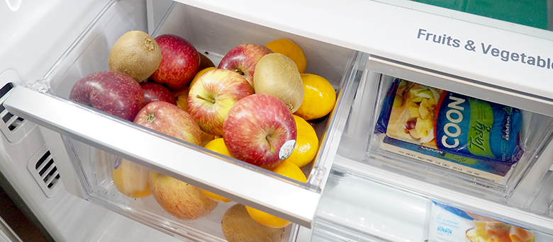 Organise the fridge to help keep it tidy, prevent food from spoiling, leftovers get eaten and it makes it easy to write a shopping list as I can quickly glance and see what I need to top up.