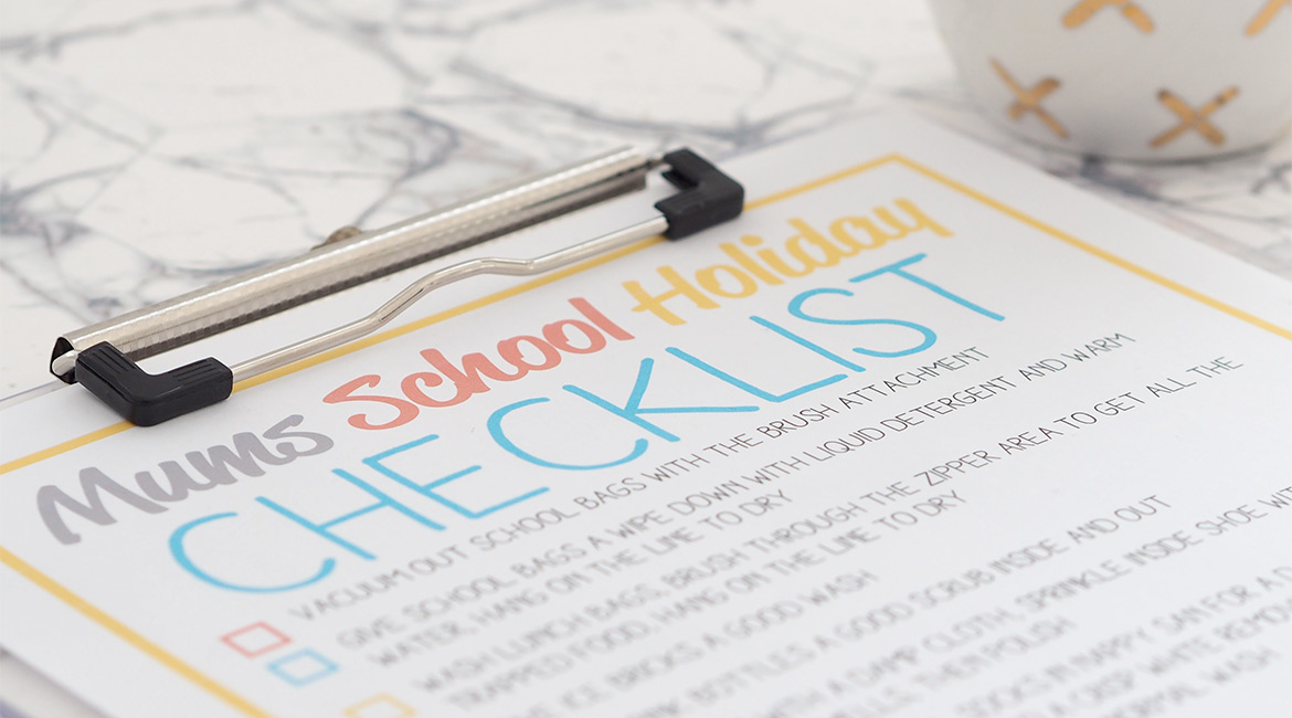 While it's nice to relax and chill out, I like to give the kids a few tasks to do over the holidays and make a list for myself. It's possible to have fun and stay organised over these school holidays!