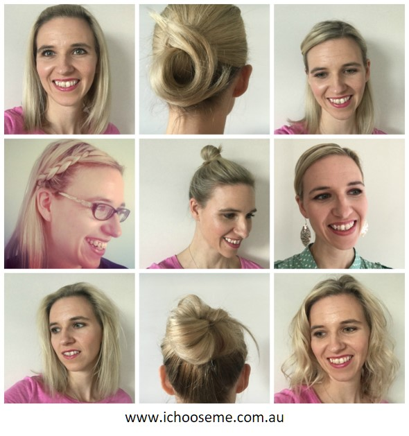 A variety of different ways to quickly style your hair, they are easily achievable to give a nice fresh look during your busy morning rush.