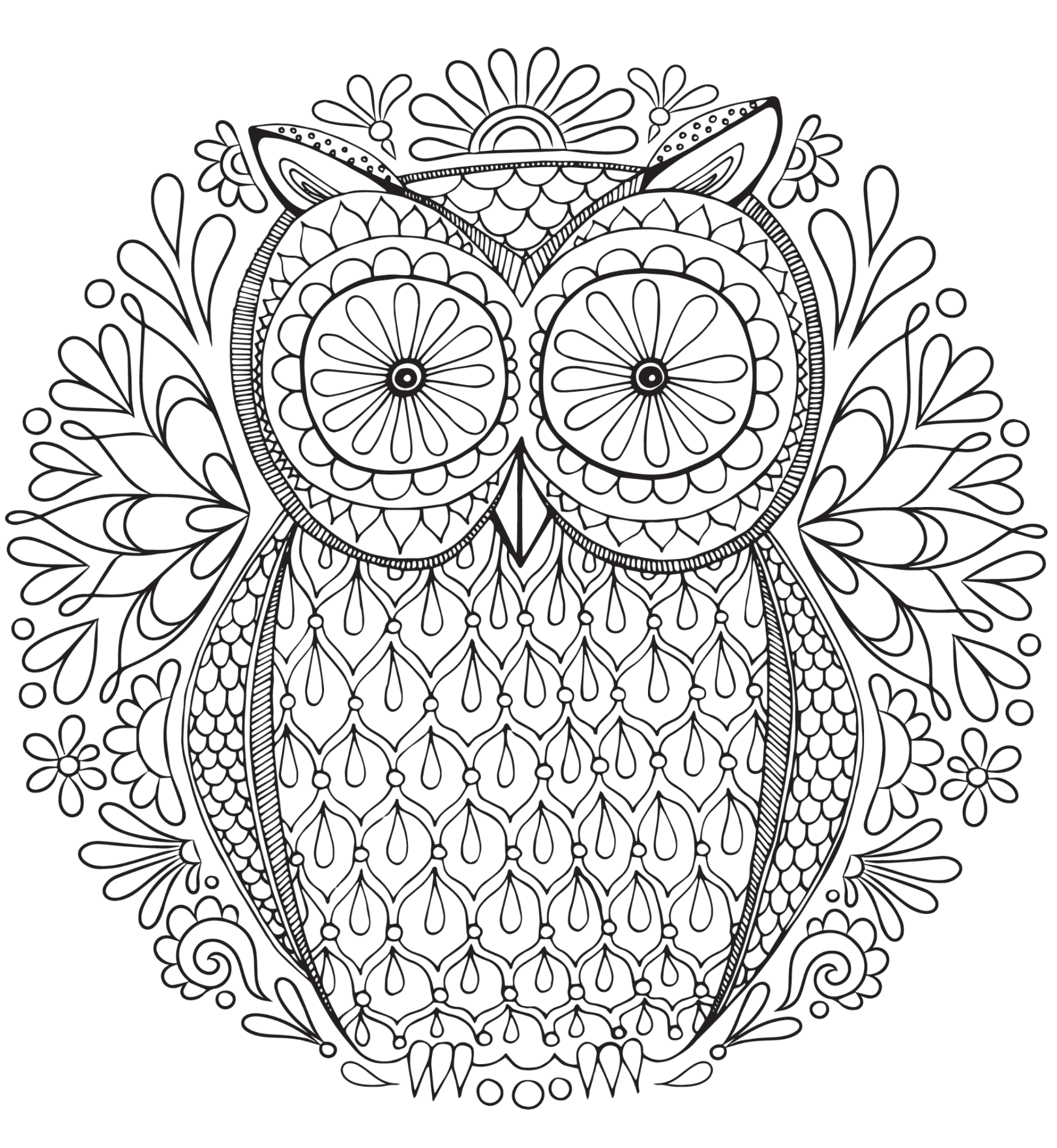 20 free adult colouring pages the organised housewife for Free printable abstract coloring pages